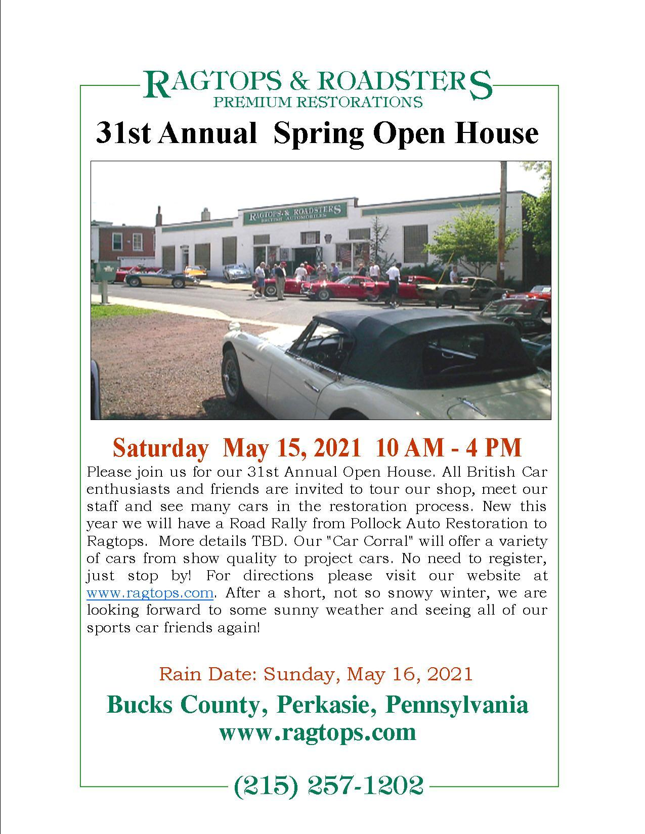 2021 Ragtops Open House Flyer