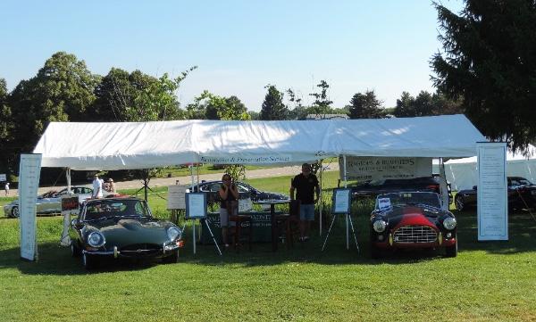 Ragtops Roadsters August Shop Talk Newsletter - Car show tent