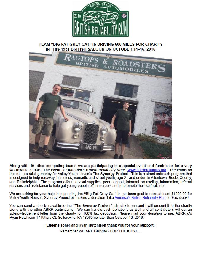 Ragtops Roadsters October 2016 Shop Talk Newsletter